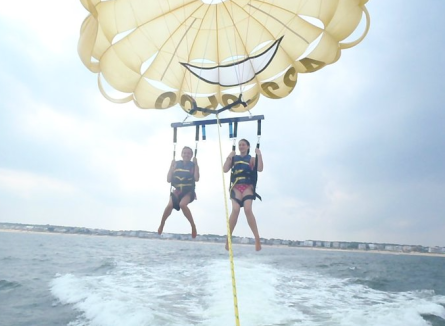 Parasailing at Virginia Beach.
